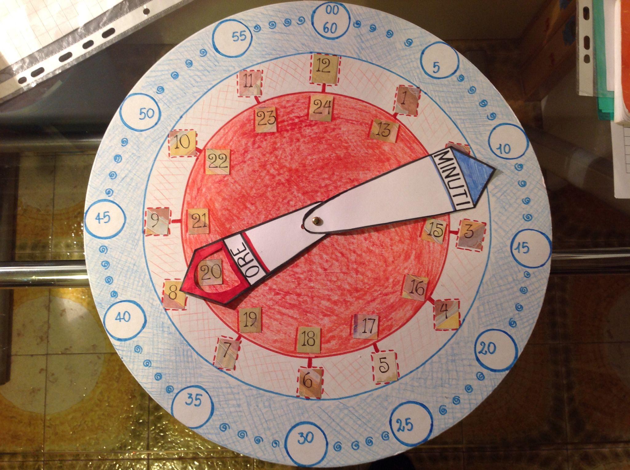 Orologio semplificato per imparare a leggere le lancette ...