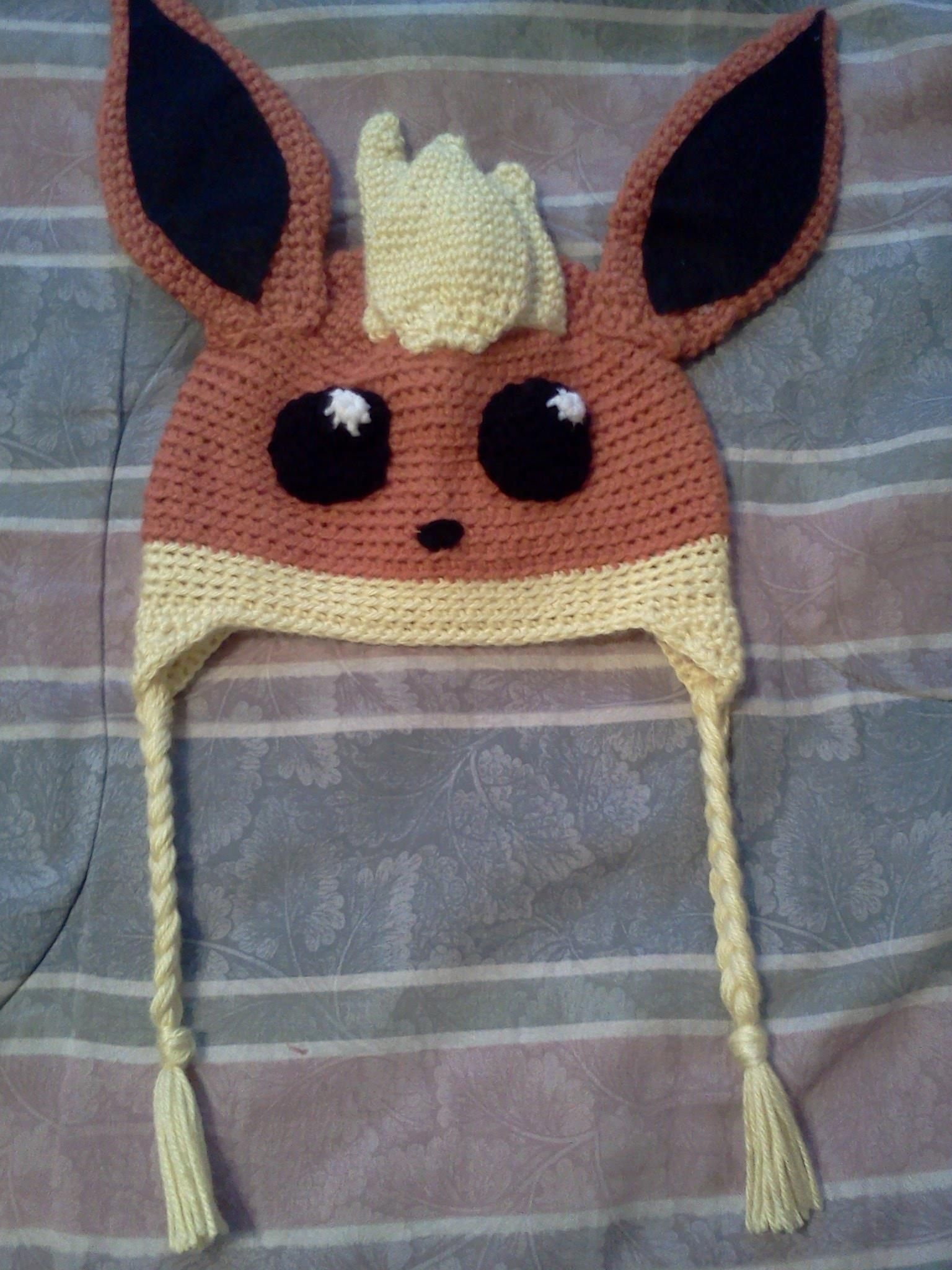 Flareon hat | pokemon | Pinterest | Gorros, Gorros para bebés y ...