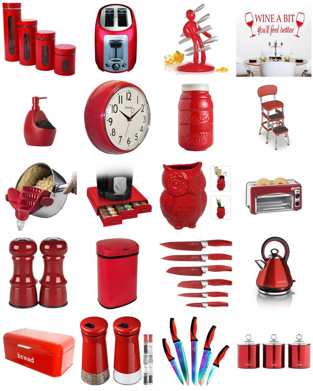 Funky And Cheap Red Kitchen Accessories Unique Red Kitchen Decor We Love Red Kitchen Accessories Red Kitchen Decor Kitchen Decor Apartment