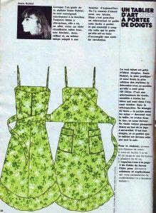 La robe tablier Sonia Rykiel du numéro 6   Couture : Oui ...