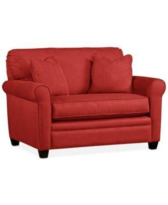 Kaleigh Fabric Twin Sleeper Chair Bed Custom Colors Macys Com