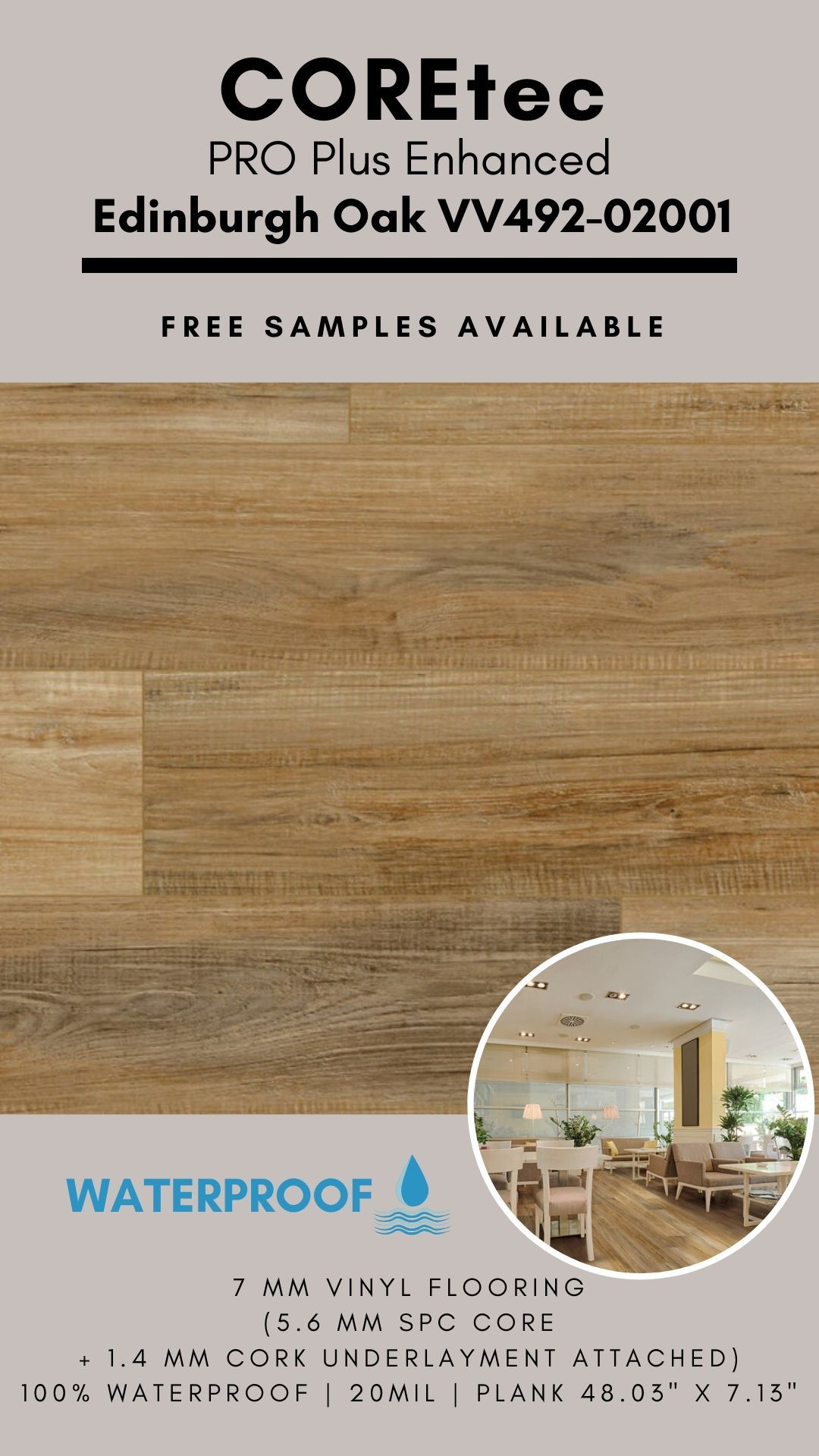 Coretec Pro Plus Enhanced Edinburgh Oak Vinyl Flooring In 2020 Vinyl Flooring Coretec Flooring
