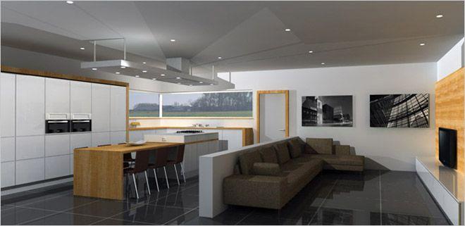 keuken woonkamer appartement Woonkamertips Pinterest Loft