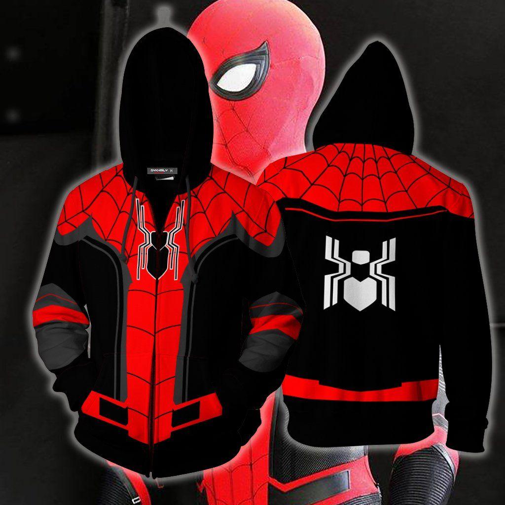 Spider-Man Men Casual Hooded Coat Jacket Tops Zipper Sweats Hoodie Outwear New