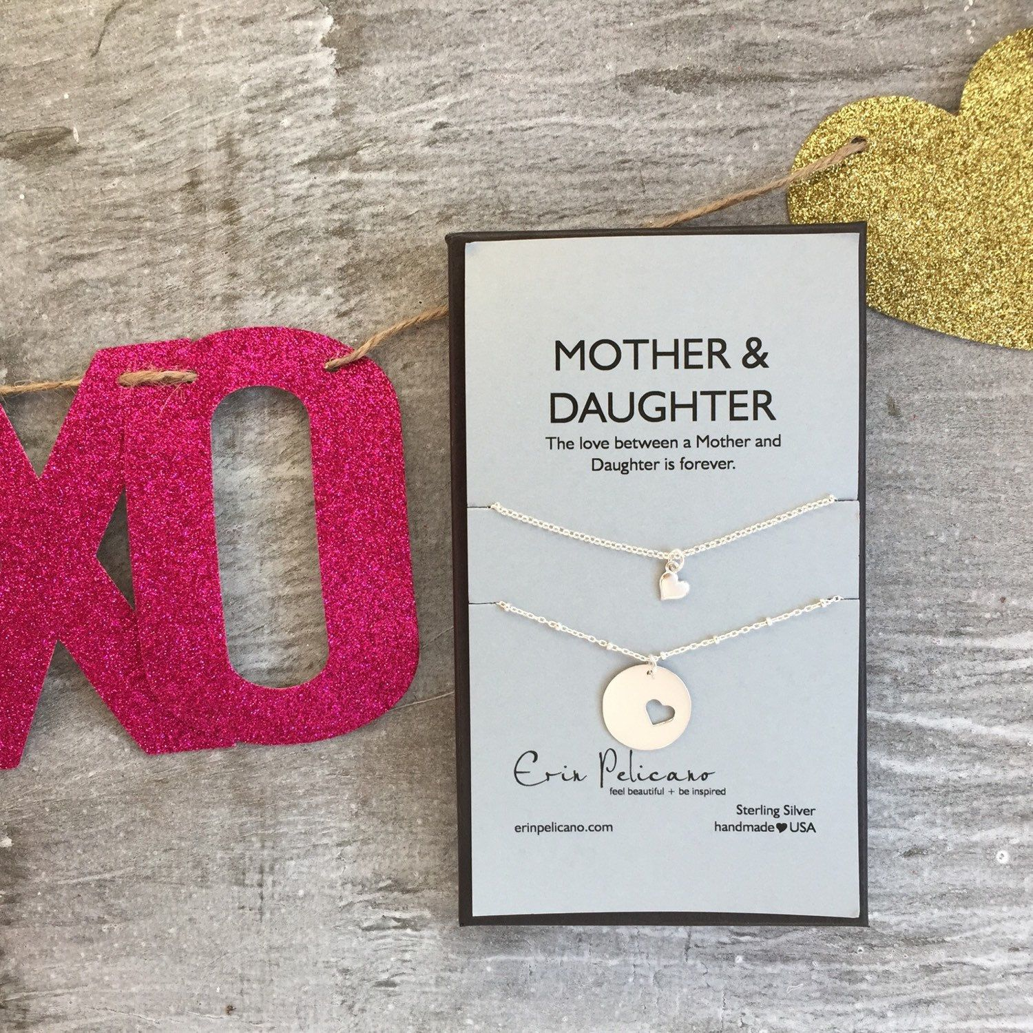 mom daughter necklace mother daughter jewelry sets mom birthday gift new mom gift mother of bride mommy and me infant loss gift for her - Valentines Gifts For Daughters