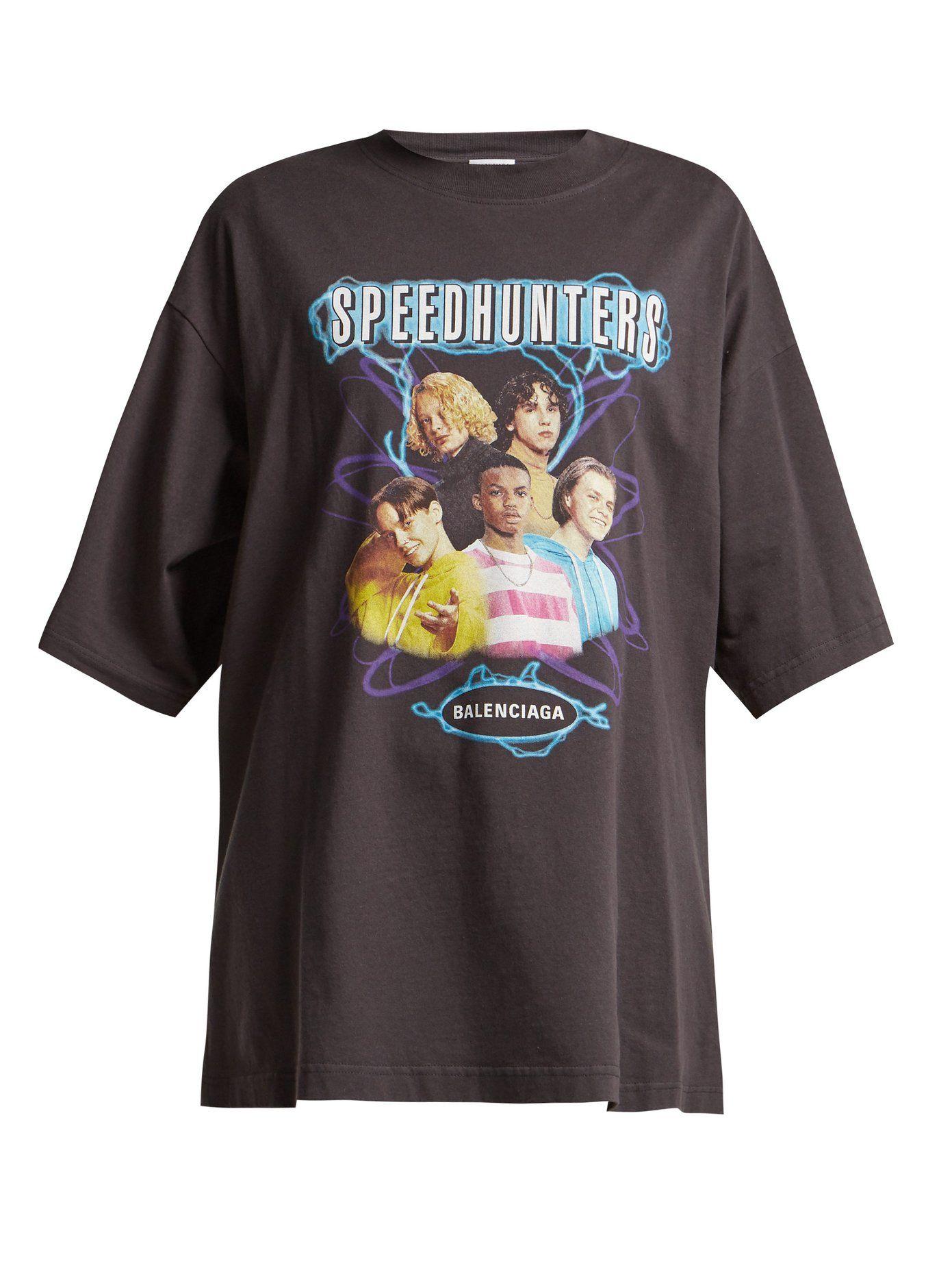 Speedhunter logoprint cottonjersey Tshirt Balenciaga