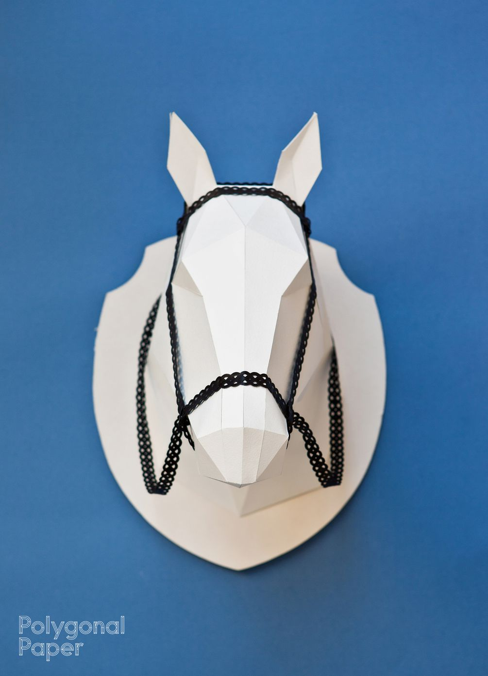 2d Horse Head Template Diy Polygonal Paper Pinterest A4 Paper