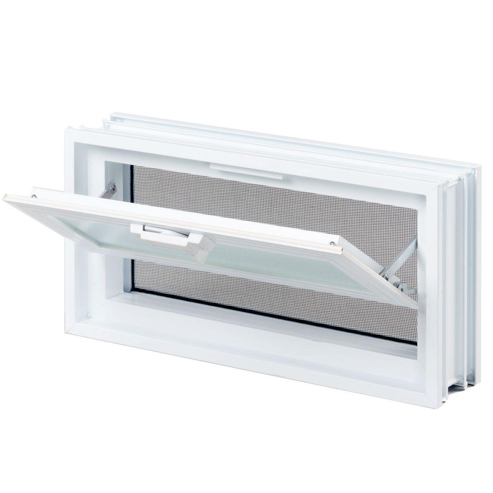 Clearly Secure 15 1 2 In X 7 3 4 In X 3 1 8 In Hopper Vent For Glass Block Windows Hv168a In 2020 Glass Block Windows Glass Blocks Window Vinyl