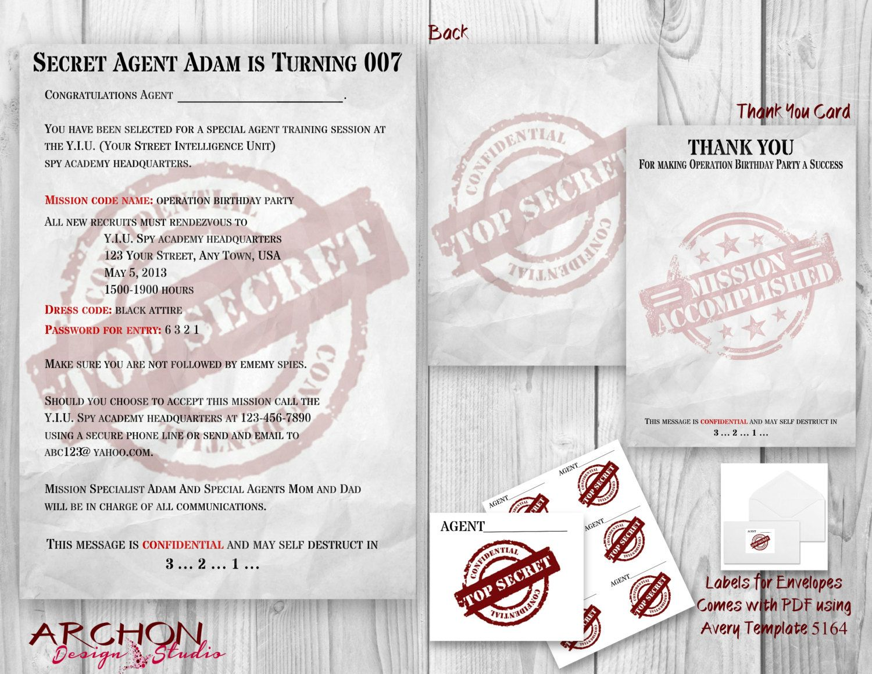 Invitation Top Secret. Secret Files Surprise Retirement Party ...