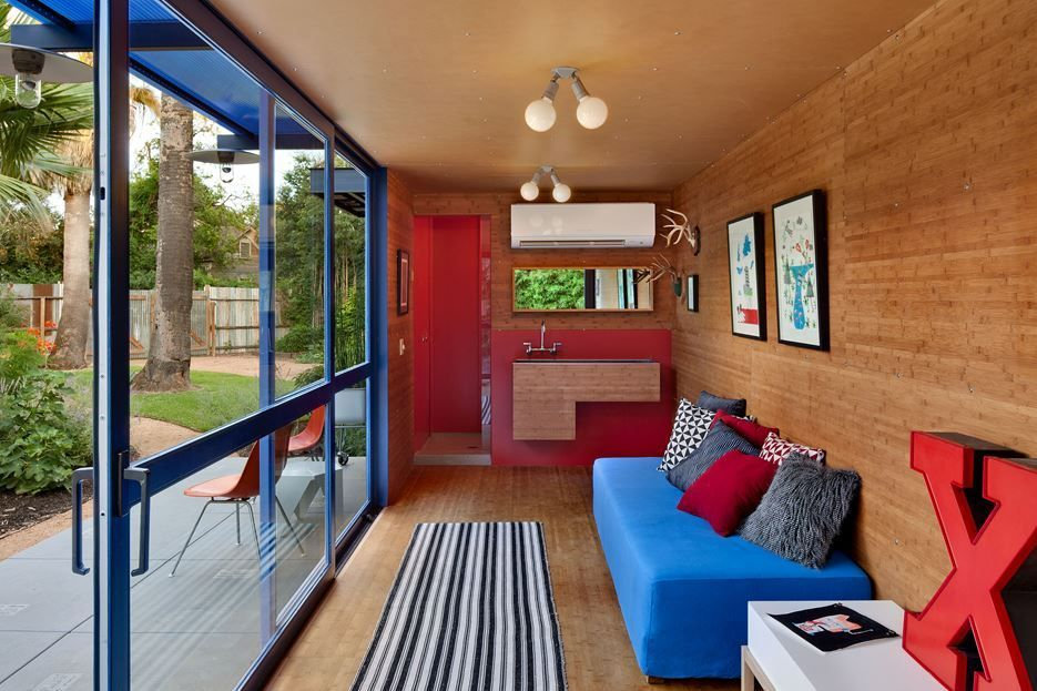 Shipping Container Home Interiors Fascinating Container Guest House  Living Room  Home Decorating Trends . Inspiration