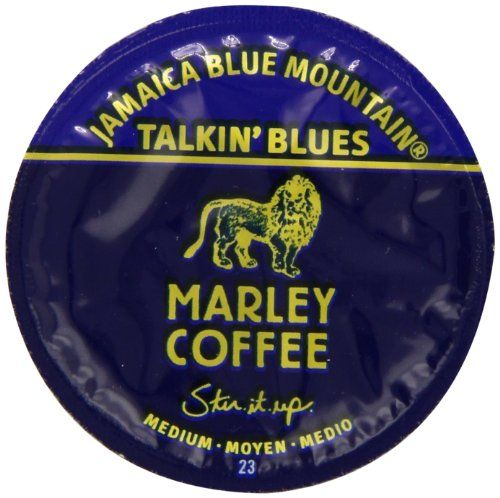 Marley Coffee Talkin Blues Coffee, 100% Jamaica Blue Mountain, Single Serve RealCup for Keurig K-cup Brewers, 24 Count - http://thecoffeepod.biz/marley-coffee-talkin-blues-coffee-100-jamaica-blue-mountain-single-serve-realcup-for-keurig-k-cup-brewers-24-count/