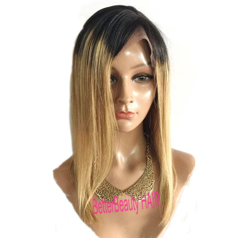 ... human brazilian hair ombre black roots honey blonde front lace wigsfull lace  wigs glueless women hair . ... c80eb2340