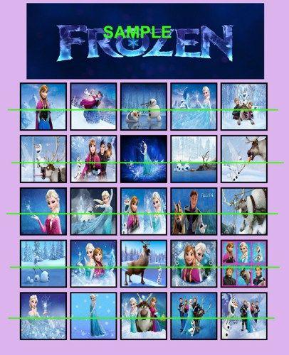 Disney Frozen Digital Printable Bingo Party Game #3 | creativedisorder - Digital Art  on ArtFire