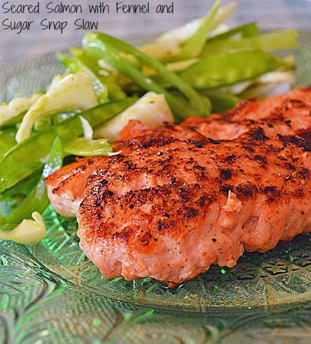 Seared Salmon with Fennel and Sweet Pea Salad #theultimateparty – Week 2