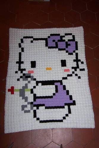 Can you crochet? Make a fun 8-bit pixel afghan! | Decken, Häkeln und ...