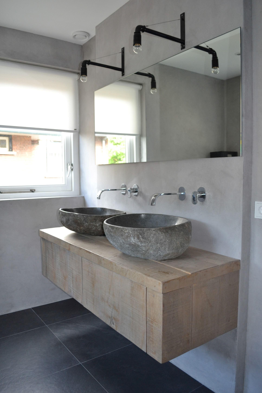 Flussstein waschbecken zuk nftige projekte pinterest for Flussstein waschbecken
