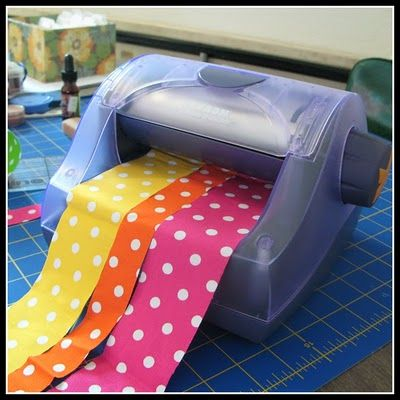 Cat in the Grass: Frugal Friday: Tacky Textiles fabric tape made with Xyron #fabrictape