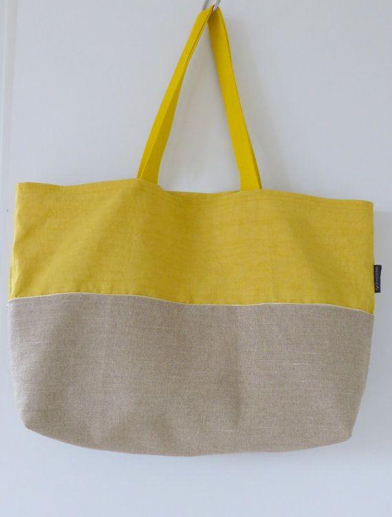 septembre créations textiles Sac de plageBeach bag Cabas