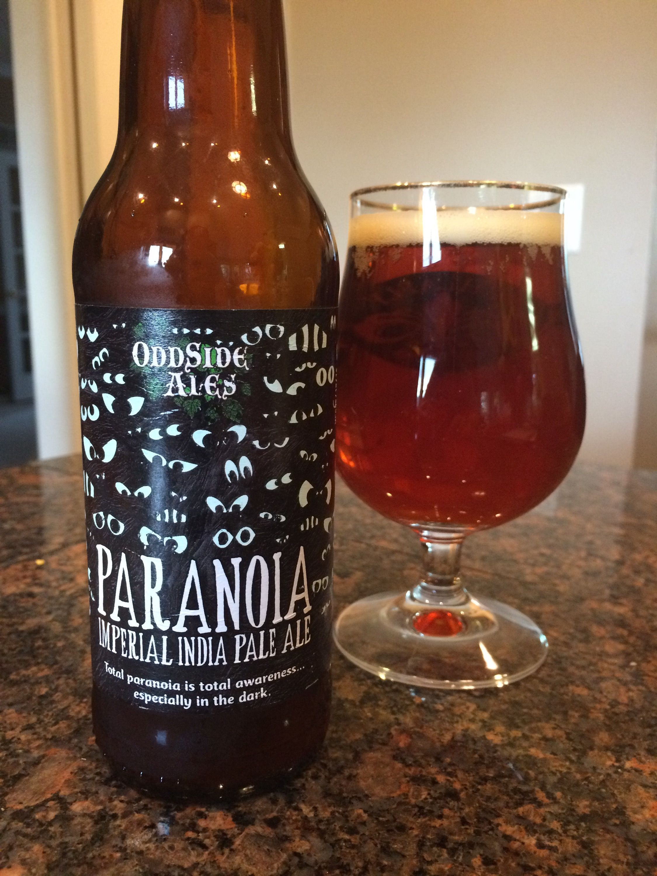 767 Oddside Ales Paranoia Imperial India Pale Ale India Pale Ale Pale Ale Beer Design