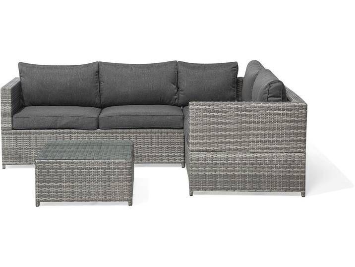 Lounge Set Rattan Grau Avola Rattan Lounge Furniture