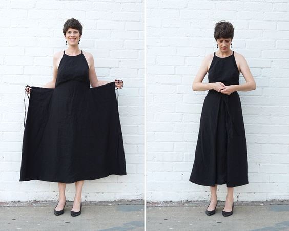 DIY Strappy Black Linen Dress – Review of the Acton Dress pattern — Sew DIY