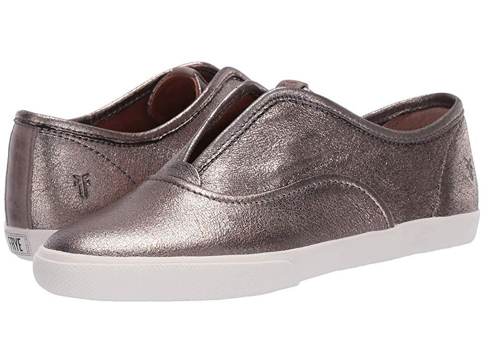 ad07d700e2239 Frye Maya CVO Slip-On Women's Slip on Shoes Golden Silver Vintage ...