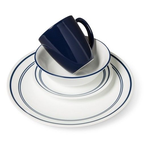 Corelle Livingware 16pc Dinnerware Set Classic Cafe Blue Dinnerware Set Corelle Dinnerware