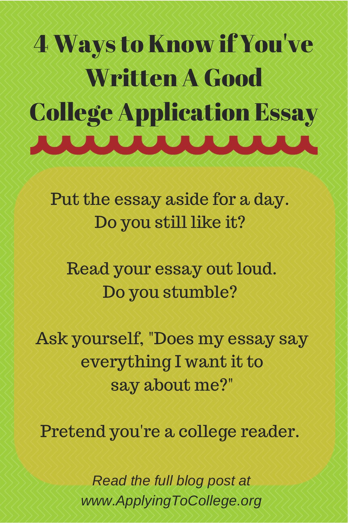 ways to know if youve written a good college application essay   ways to know if youve written a good college application essay