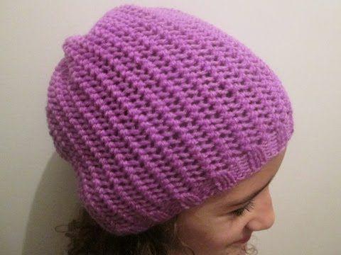 Tuto tricot apprendre a tricoter un bonnet au point de - Apprendre a tricoter un bonnet ...