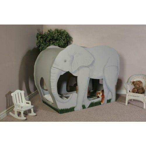 Lit éléphant : pour plonger votre enfant en plein coeur de la savane. A découvrir sur playhousedesigns.com, un site haut de gamme de lits exceptionnels pour enfant. Une sélection de la rédaction de source-a-id.com.