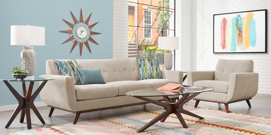 East Side Mushroom 5 Pc Living Room Rooms To Go Living Room