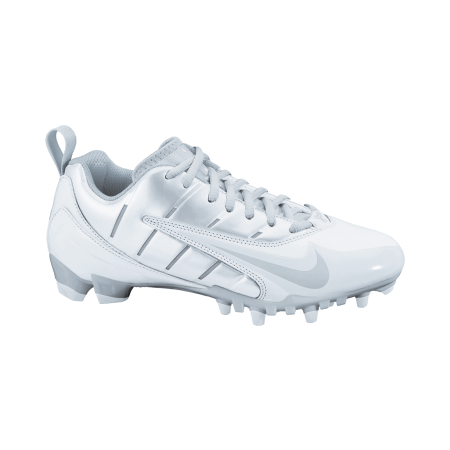 size 40 21f73 577ff  LacrosseUnlimited Women s Nike Speedlax 3 Cleats in Silver.  lax  girls   nike  cleat