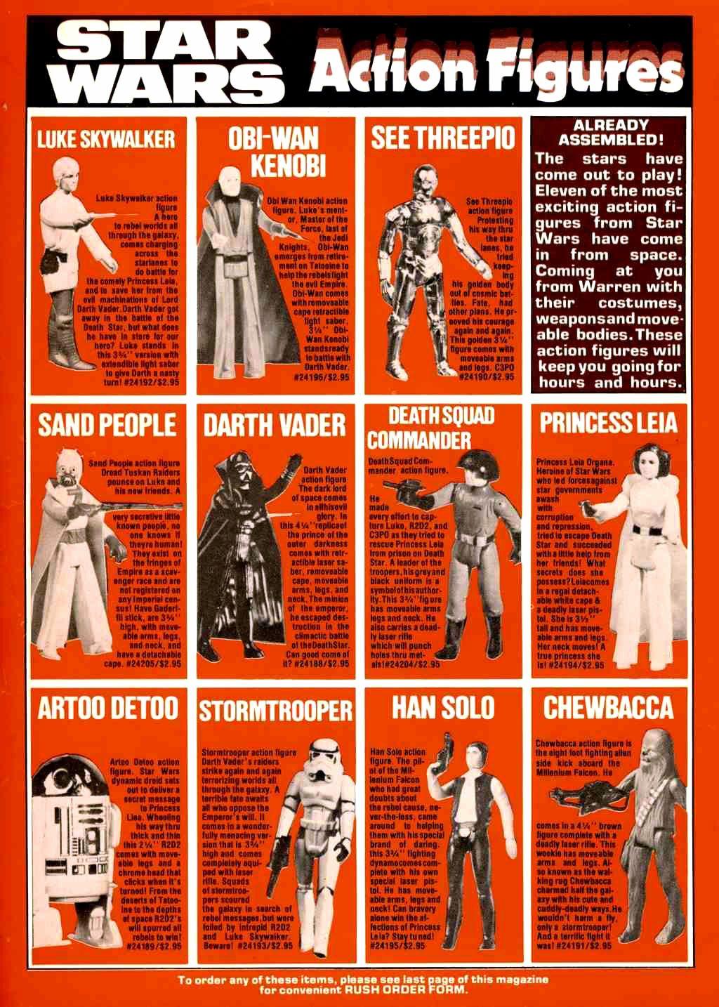 Star Wars action figures, 1978
