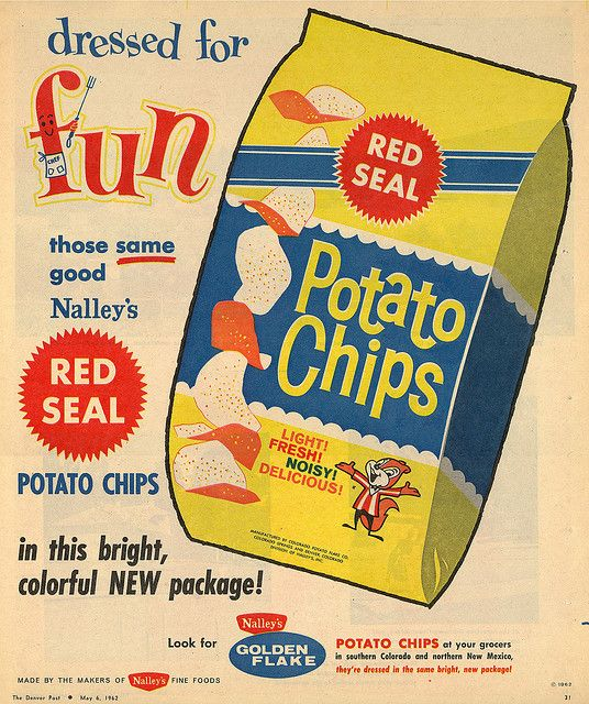 Nalley's Potato Chips | Vintage Advertisements | Vintage