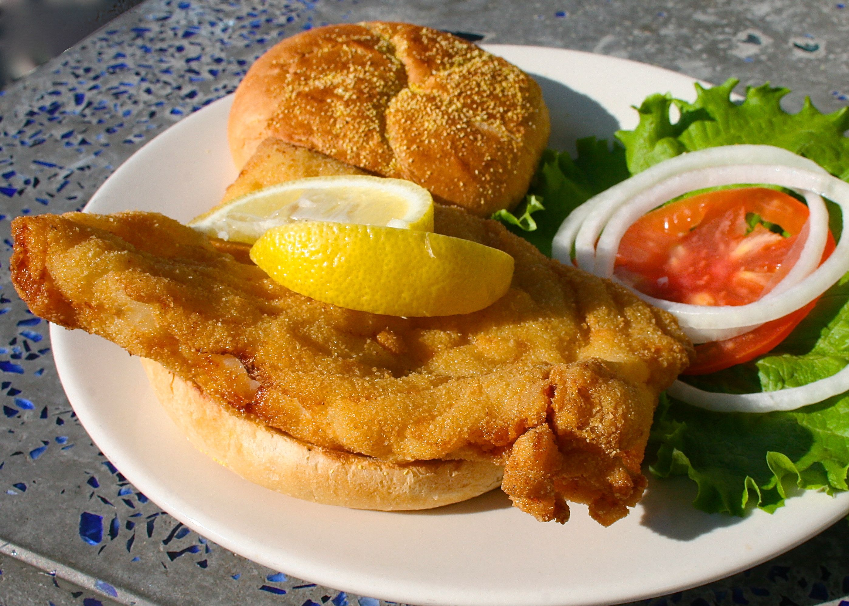 Famous Grouper Sandwich From Hurricane Seafood Restaurant In