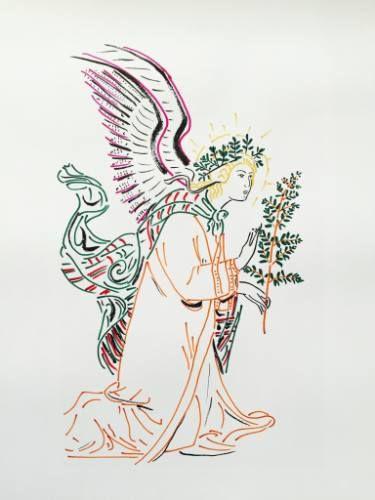 "Saatchi Art Artist Zoran Poposki; Drawing, ""Angel (after Martini)"" #art"