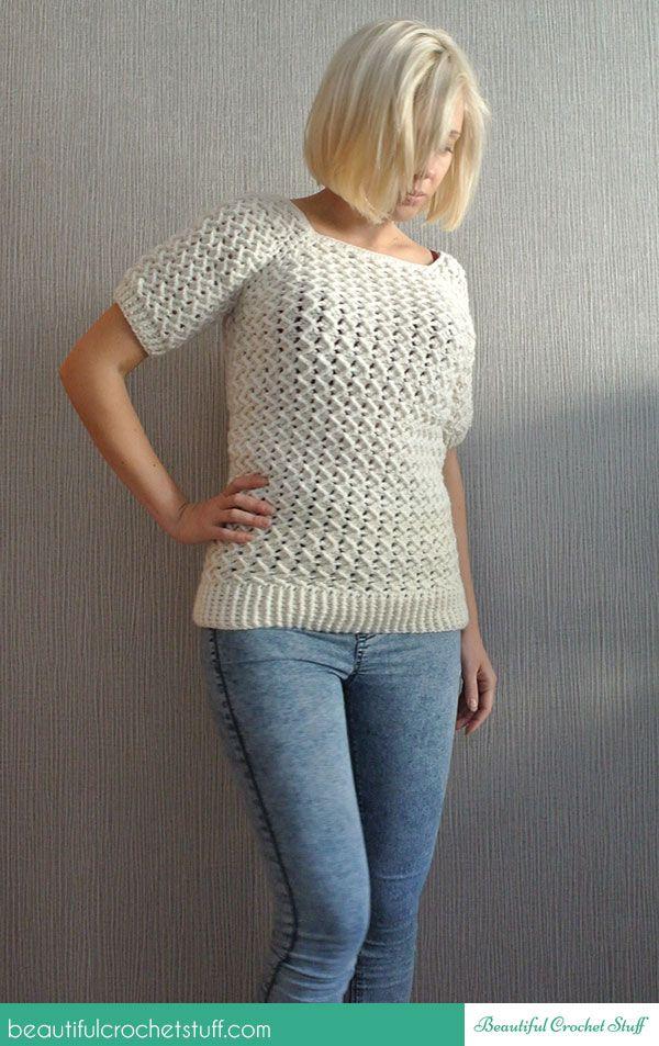 patrón de suéter de ganchillo | Patrones | Pinterest | Patrones de ...
