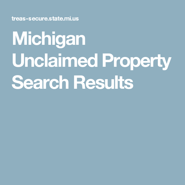 What is Unclaimed Property?