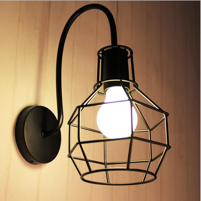 wall mounted Iron lamp | Wall mount, Led bathroom lights and Dining ...