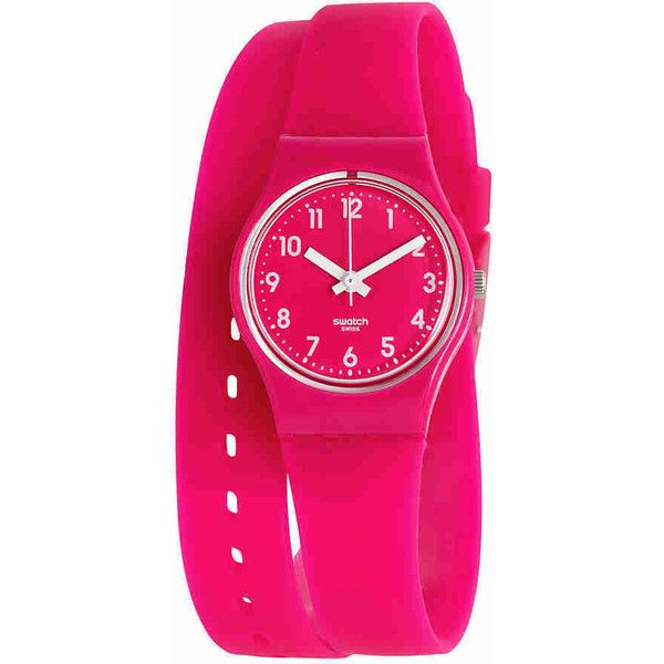 51b3834e98aa Swatch Pink Berry Plastic Ladies Watch ( 45) ❤ liked on Polyvore featuring  jewelry