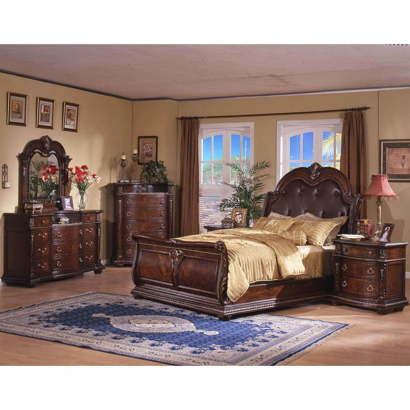 Shop Furniture Direct: Davis International Conventry II Traditional King Sleigh