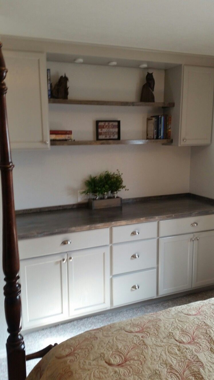 Cabinets Are Unfinished From Home Depot Painted Grey Counter Is
