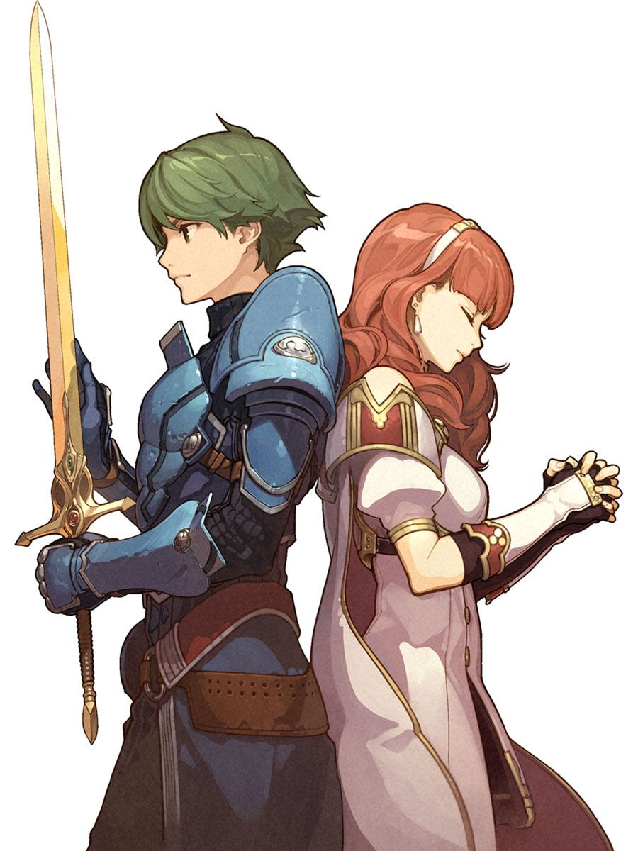 Alm & Celica character artwork from Fire Emblem Echoes