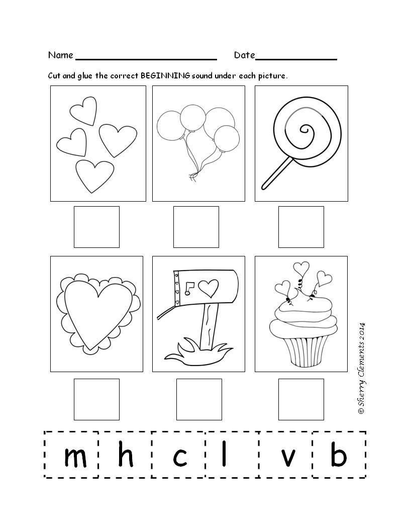 Beginning Sounds February Includes Some Blends 6 Pages Beginning Sounds Worksheets Kindergarten Reading Activities Literacy Centers Kindergarten [ 1056 x 816 Pixel ]
