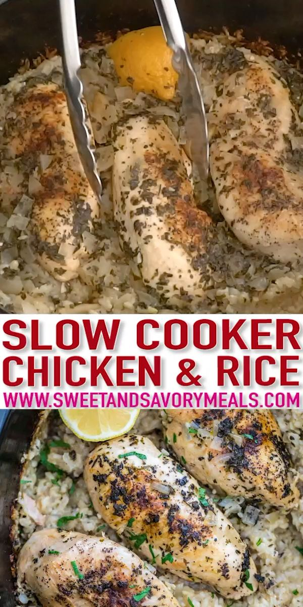 Crockpot Chicken and Rice  - Sweet and Savory Meals
