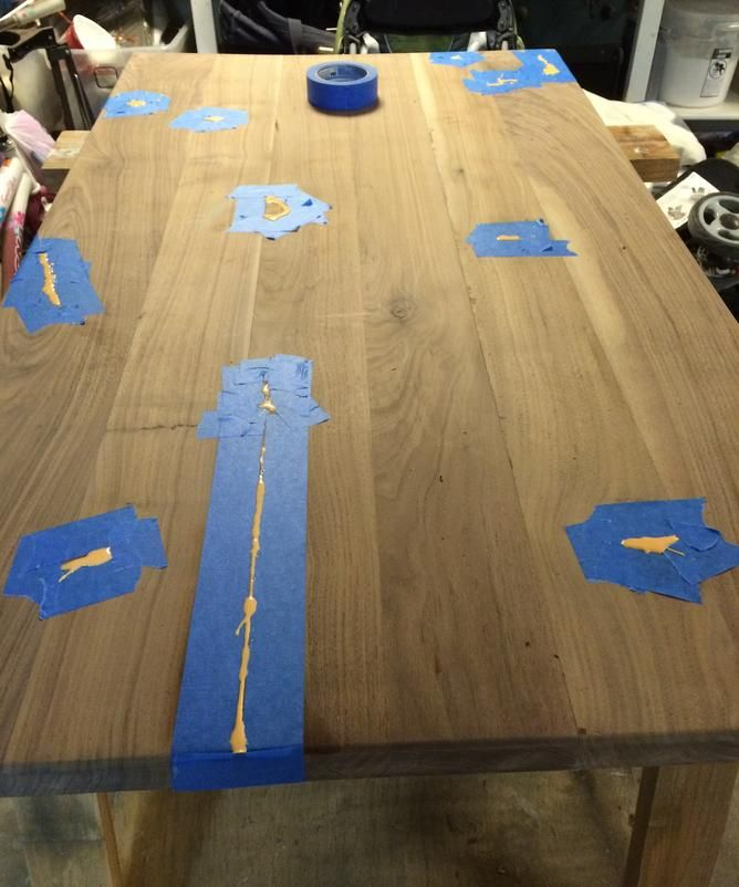 How to build a Glow Resin table | Resin table, Staining