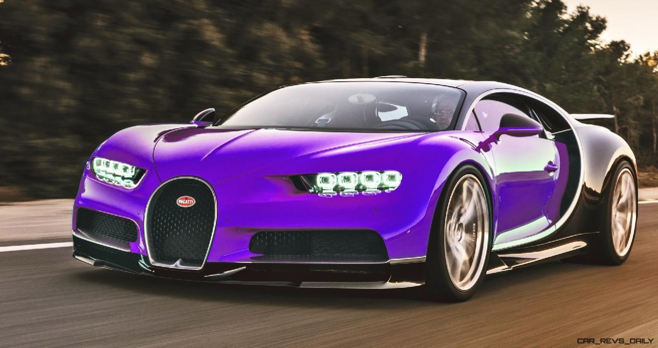 Purple and Black Bigotti Chiron Bugatti chiron, Bugatti