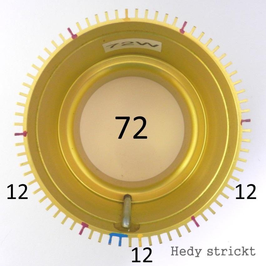Sockenstrickmaschine Zylinder markieren72 | Macchina knitting ...