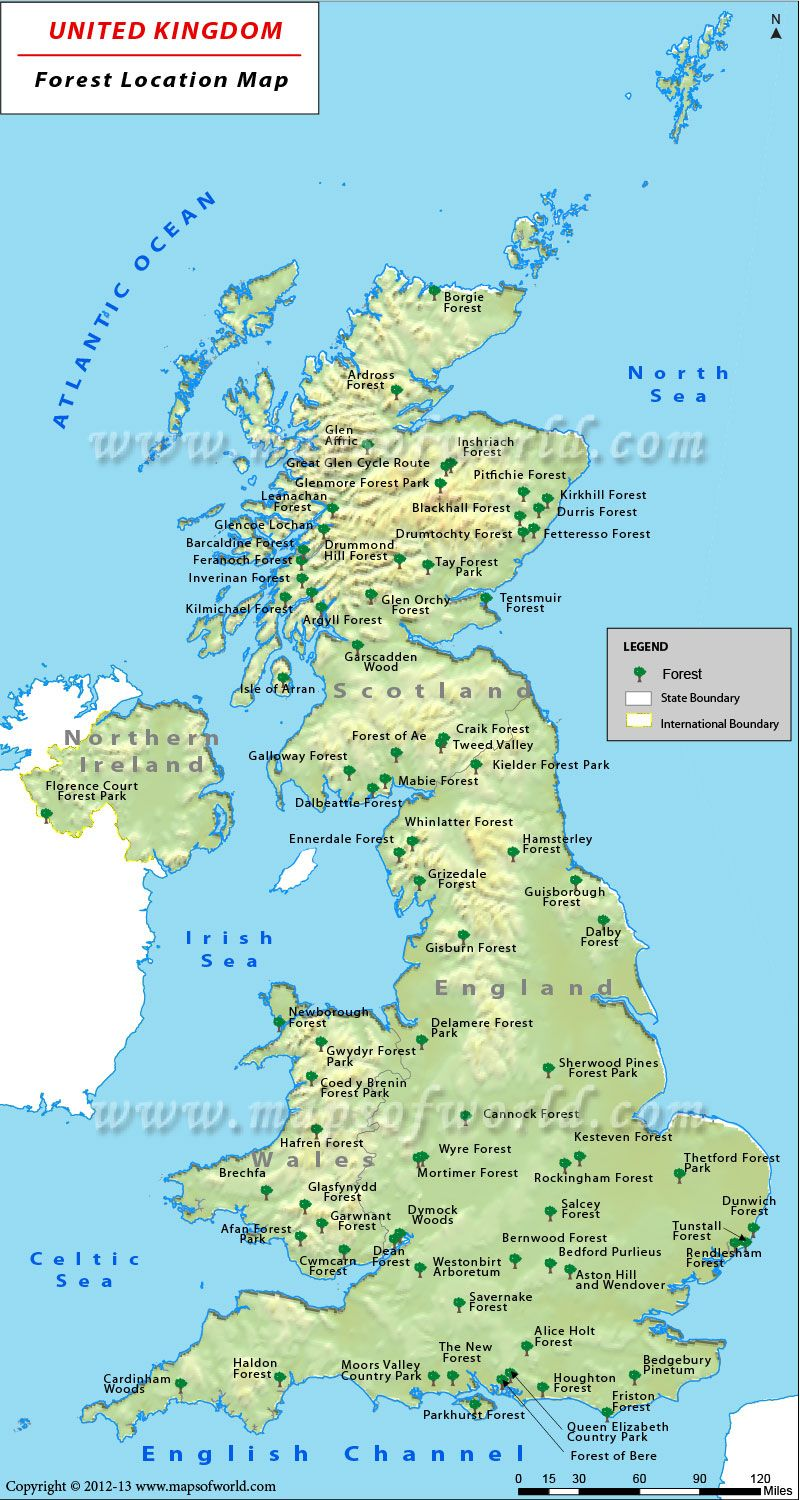 Map Of Uk Forests.Uk Forests Map Showing All The Forests Located In United Kingdom