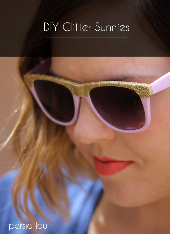 DIY Glitter Sunglasses Tutorial by Persia Lou